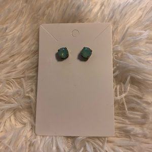 Francescas light green sparkly large stud earrings